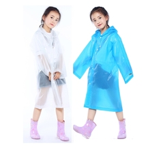 EVA Windproof Hooded Raincoat Translucent Poncho Rain Cape Rainwear Outdoor Travel Rain Gear Rain Coat For Kids Children