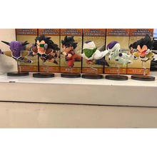 6pcs/set Anime Dragon Ball Z Figure The Historical Characters WCF PVC Action Figures Collection Model Toy Doll Gifts