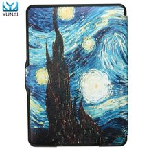 YUNAI For Kindle Paperwhite Case 1 2 3 Cover New Table Suite Van Gogh Art Oil Painting For Amazon Kindle Protector Cover Case