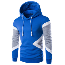 New 2016 Spring Autumn Mens Casual Slim Fit Hooded Hoodies Sweatshirt Sportswear Male Patchwork Fleece Jacket 5 Colors M-XXL(China)