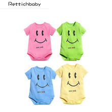 2017 Summer New fashion 8 designs Newborn Short-sleeve Romper Baby Jumpsuit  Smile Logo Papa and Mama Love Me Baby Clothes