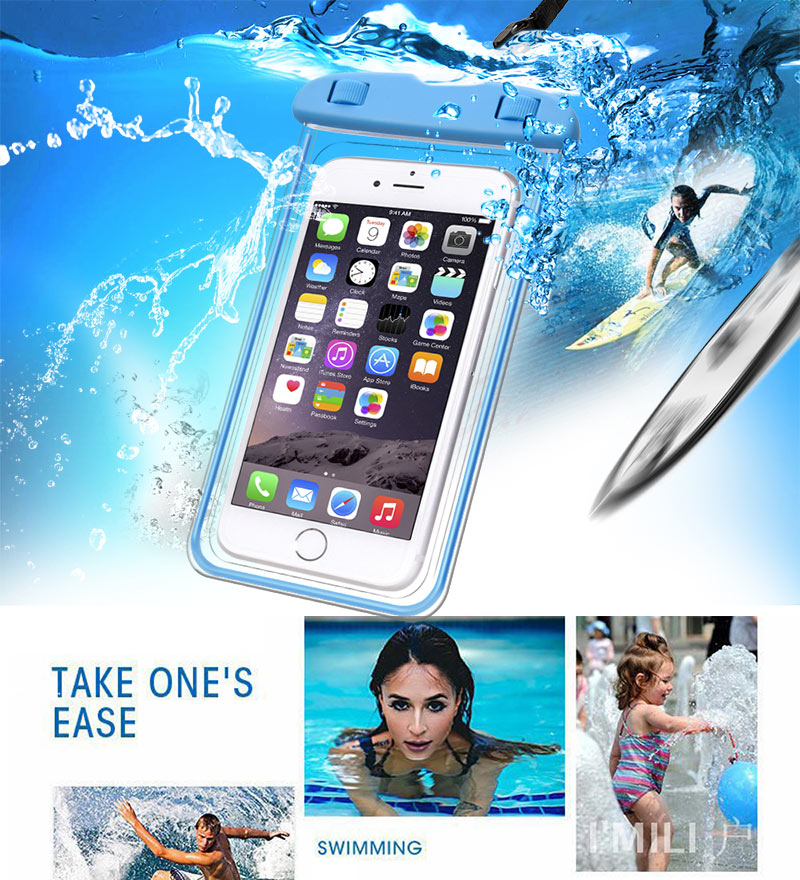 TOMKAS Universal Waterproof Case For iPhone X 8 7 6 s Plus Cover Pouch Waterproof Bag Case For Phone Coque Waterproof Phone Case (4)