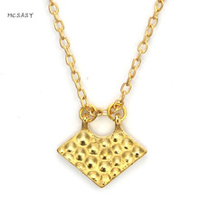 MCSAYS Norse Viking Stainless Steel Jewelry Honeycomb Pendant Gold Color Punk Necklace Amulet Mens Music Jewelry Dope Gifts 1SL