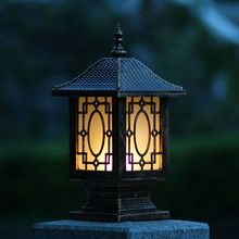 Fence wall lamp waterproof post column headlights outdoor garden lights WCS-OCL0012(China)