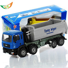 kids toys Full alloy heavy delivery trucks dump-car 1:50 scales models car juguetes(China)
