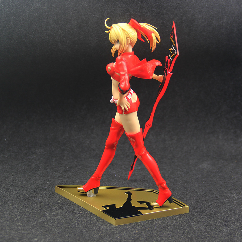 nero claudius fate saber EXTRA red Racing suits nero figure fate stay night(3)