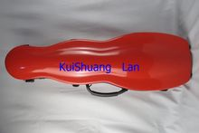 Excellent calabash shape red hard glass fiber 4/4 violin case