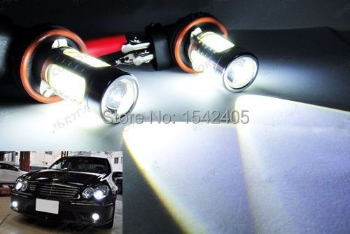 2x CANBUS H11 H8 CREE LED Projector Fog Light DRL Auto Lamp 11W No Error For Audi A3 A4 A5 S5 A6 Q5 Q7 TT(China (Mainland))