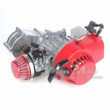 49cc 52cc Performance Motor 2-stroke Mini Dirt Bike ATV Engine with Gear Box 14T T8F Sprocket New Metal Recoil Racing Air Filter