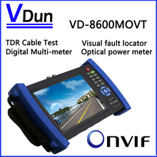 VD-8600MOVT 7 inch Touch Screen IP Camera CCTV Security Tester IPC Tester with TDR /OPM/ MULTI/ VFL test Support ONVIF/WIFI ,etc