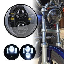 "1pcs 5.75"" HID LED Headlight High Low Beam 5 3/4"" Front Driving Head Lights Headlamp For Harley Davidson Motorcycle Daymaker"