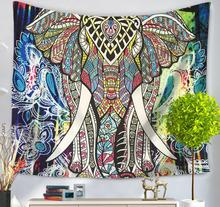 250G Printed elephant Beach Towel beach towels Home Dec seat Mat 150X130CM polyester creative tapestry Hanging Carpet FG736