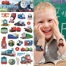 Lovely children Thomas temporary tattoo body art flash tattoos 21 * 10 centimeters waterproof tattoo car modelling wall stickers(China)