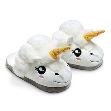 winter indoor animal prints flat unicorn slippers furry fluffy fur flip flops fuzzy house home women mules platform plush s131