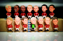 Collection 98 version 15pcs/set 6.5cm England Manchester David Beckham Irwin Bart Action Figure Jersey Football star toys gift