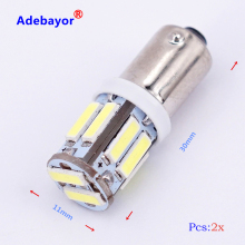 2 PCS BA9S T4W 10 SMD 7014 7020 LED 10SMD Auto interior indicator side market light DC12V White Adebayor