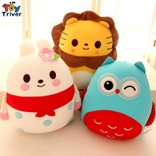 Triver foam particles containing plush owl lion bee pig penguin ladybird elephant rabbit dog toy stuffed doll baby kids gift