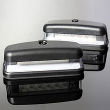 2Pcs LED License Plate Light Rear Number Plate Lamp Truck Trailer Lamp 10-30V E11 Caravan VAN Waterproof