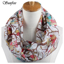 Sunfree 2016 Fashion Hot Sale Women Ladies Owl Pattern Print Scarf Warm Wrap Shawl Great Gift New Design High Quality Oct 1(China)