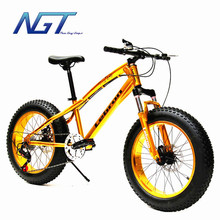 20 Inch Fat Bike 4.0 Wide Tire Snow Bike Mountain MTB Bike 20'' Fat Tire Snow Bicycle Sand Beach Bike Top Quality for Children