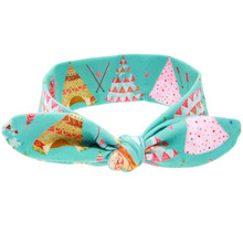 DIY headband Bow Knot Floral Headband 19*7cm Hairband Rabbit Ear Arrow Print Head Wrap Hair Band Accessories KT053