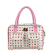 Fashion Portable Pet Carrier Foldable Waterproof Small Cat/Dog Bag Colorful Dots Travel Tote Pet Carrier Bag Luggage Dog Purse