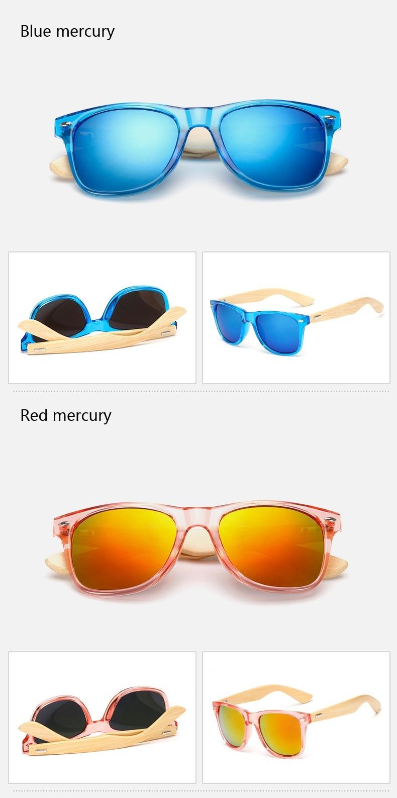 Ralferty Retro Wood Sunglasses Men Bamboo Sunglass Women Brand Design Sport Goggles Gold Mirror Sun Glasses Shades lunette oculo 13