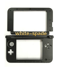 2015 New Version For Nintendo New 3DS XL Replacement Hinge Middle Shell Top and Bottom shell with joystick cap black