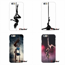 For Samsung Galaxy S3 S4 S5 MINI S6 S7 edge S8 Plus Note 2 3 4 5 Silicone Mobile Phone Case Pole dance dancing Fitness Good(China)