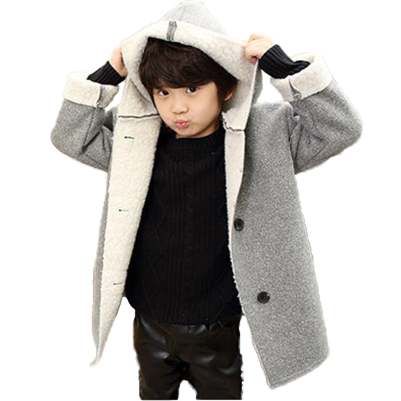 Buenos Ninos girls boys autumn coats false lambswool patchwork hooded family fitted outwears 40<br>
