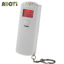 The Breathalyzer Personal Key Chain LCD Digital Alcohol Tester Breath Analyzer Car Detector with Red Backlight and Retail Box(China)