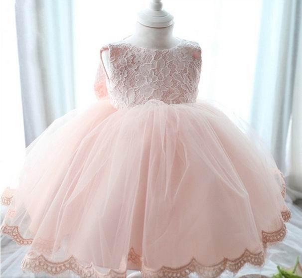 New Girl Pink Dress Bow TUTU Layered Trailing Dress Girl Performance Dress Children Clothing 3-10T 9002<br><br>Aliexpress
