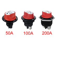 Jtron 50A 100A 200A Battery Isolator Cut Out Off Kill Switch Kit Car Race Rally Switch for motorcycle/car/boart(China)
