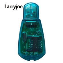 Larryjoe USB SIM Card Reader Adapter Mobile Phone SMS Edit Copy Backup GSM CDMA Blue