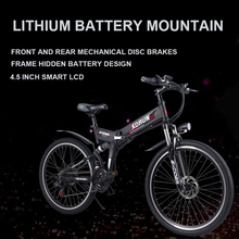 "Electric bicycle 48V Hide lithium battery 26""electric mountain bike smart assist hybrid ebike Waterproof motors kit rang 45km"