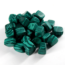 2015 Natural Malachite quartz Crystal Gem Stone Tumbled Stone Healing Reiki Wicca point beads 100g Wholesale price