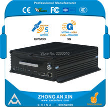 "4 Channel AHD 720P GPS tracking 3G WCDMA 2.5"" SATA HDD 2TB SD card 64GB Vehicle Mobile DVR MDVR"