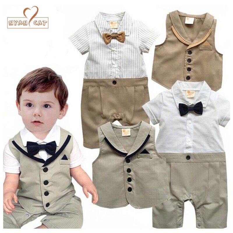 A/&J Design Baby Boy Gentleman Short Set Outfit