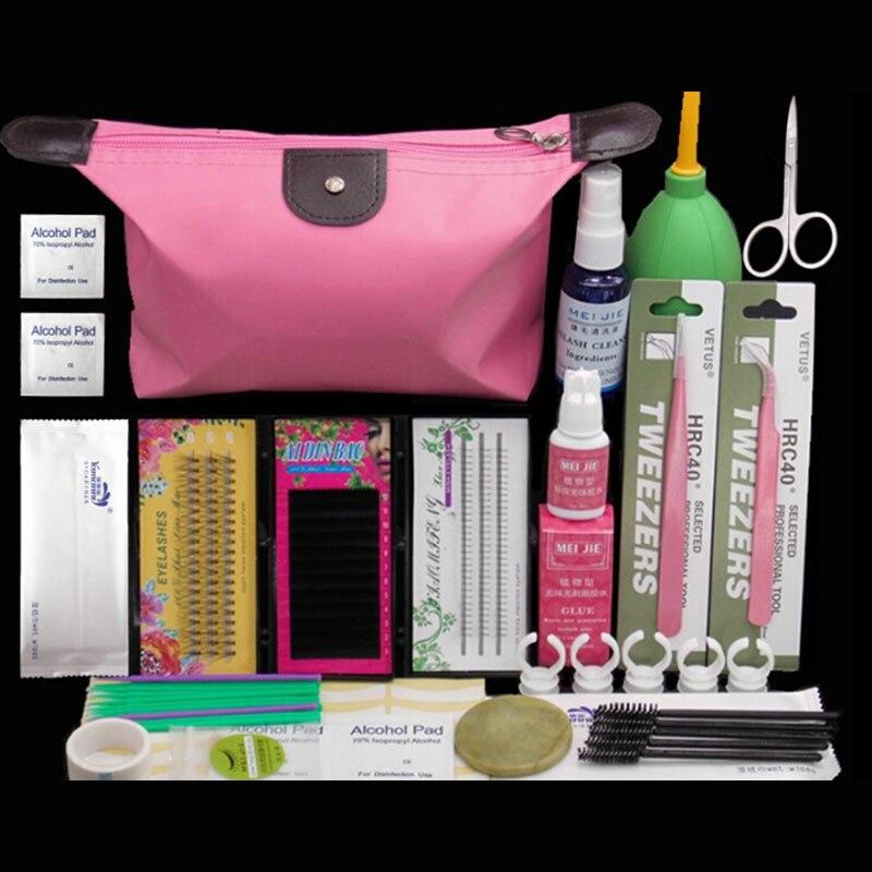 Professional Portable Eyelashes Extension Curler Kit False EyeLash Lashes Makeup Set Fashion Eyelash Extension Kit Makeup Set<br>