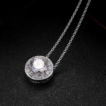 AAA Cubic Zircon Setting Fashion Crystal Pendant Necklace Silver Gold C ITALINA Fine Thin Clavicle Chains Jewelry