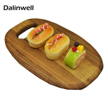 2017 New Nordic Hanging Chopping Sterile Solid Wood Cutting Board Original Black Walnut Wooden Bread Plate Serving Tray S M