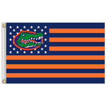 1 Pcs 90*150cm Florida Gators flag with us stripes 3ftx5ft Banner 100D Polyester flag Metal Grommets Home Decor Accessories(China)