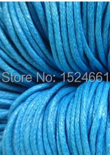 "80M(3149-5/8"") Lightblue Waxed Cotton Cord 1mm * sewing thread wire nylon cord jewelry making nylon thread(China)"