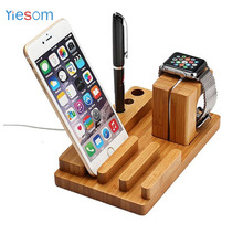 YIESOM Bamboo Wood Charge Dock Holder for Apple Watch Docking Station Cradle Bracket for iPhone iPad for Apple Watch Charger(China)