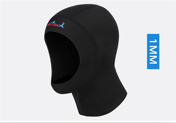 DIVE&SAIL 3mm neoprene diving cap snorkeling swimming hat hood neck cover winter swim keep warm scuba surfing face mask black003