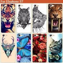 "Buy Elephone S7 case Cover Fashion transparent Soft Silicone tpu Cover Diy Tiger Owl Cat Rose Case elephone s 7 5.5"" Phone Sheer for $1.18 in AliExpress store"