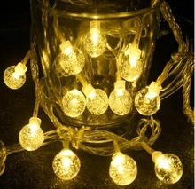 10m 100 bulbs outdoor waterproof 2.5cm Crystal ball string light led Showcase/Window display/Party/Holiday Christmas Decoration