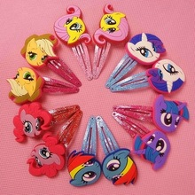 8/10 Children Hair Accessories Little Ponys Hair Clip Cartoon Kids Hairpins Cute Hair Ornaments Flower Crown