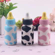 2017 Super Cute Soft Slow Up Milk Bottle Toys Decompress toy Bag Phone Straps PU Charms Pendants Random Delivery