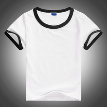 Child Unisex Plain Basic T Shirts Girls And Boys Black And White 100% Cotton Tops Tees 2017 Kids Clothing 2 3 4 6 8 10 12T 1427